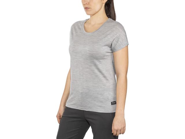 Bergans Oslo Wool - Camiseta manga corta Mujer - gris